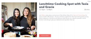 Festival Hub Cooking with Tasia and Gracia